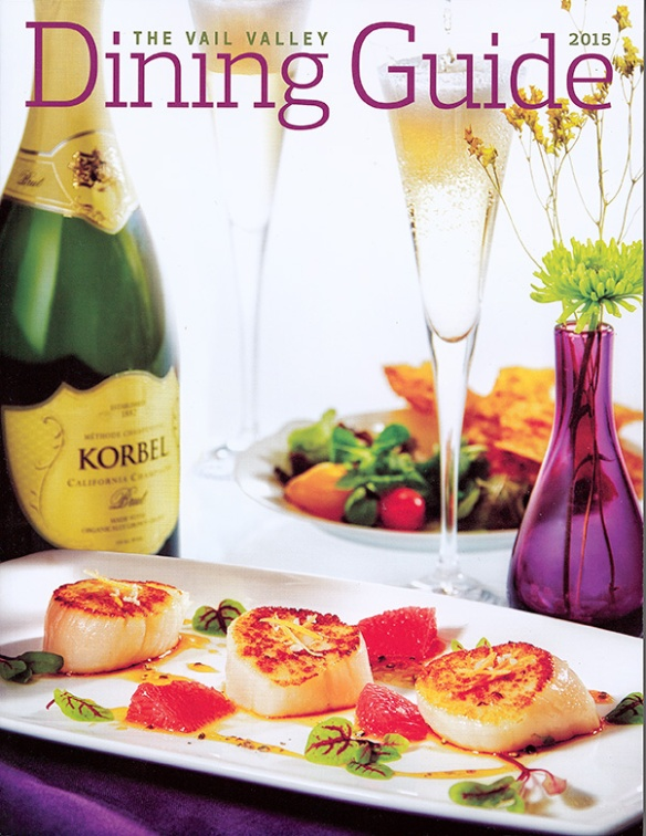 Cover shot by Brent Bingham Photography of the 2015 Vail Dining Guide