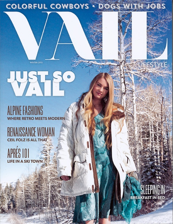 Cover shot by Brent Bingham Photography of Vail Lifestyle Winter 2015