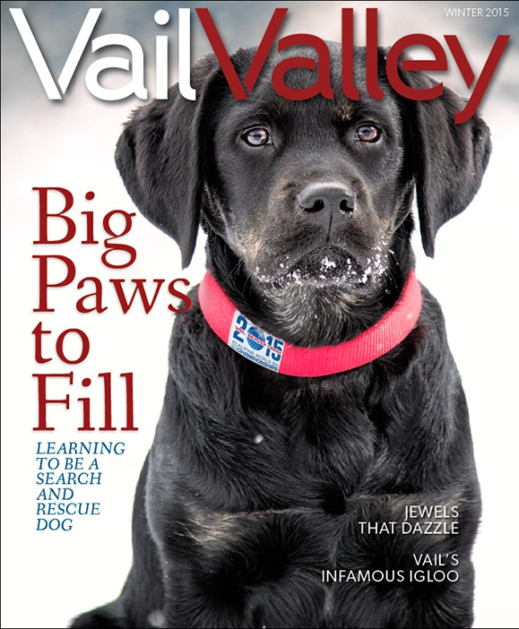 Cover shot by Brent Bingham Photography for Vail Valley Magazine Winter 2015